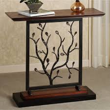 Pedestal Accent Tables Furniture Mesmerizing Half Moon Accent Table With Elegant Looks