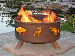 Wood Burning Firepit by Patina Products Wildlife Design Outdoor Wood Burning Fire Pit F106