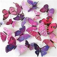 Purple Butterfly Decorations Butterfly Decorations Wholesale 3d Butterfly Style Decorations
