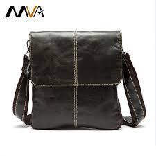 mva genuine leather men bag fashion leather crossbody bag men
