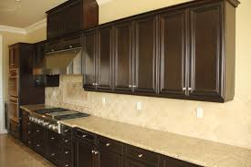 dark brown cabinets in kitchen pleasant home design