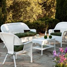 Outdoor Resin Wicker Furniture by White Wicker Outdoor Patio Furniture Best 25 Conservatory