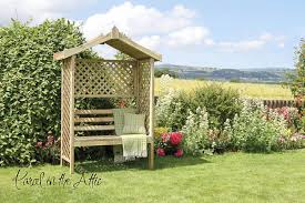 barcelona garden arbour seat with trellis u0026 bench storage wood