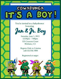 turtle baby shower invitations marialonghi