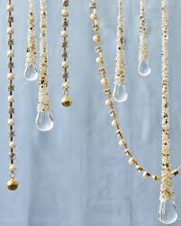 and pearl beaded gold garland set of 3 balsam hill