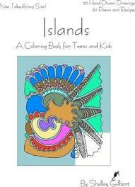 islands coloring book teens kids 30 hand drawn