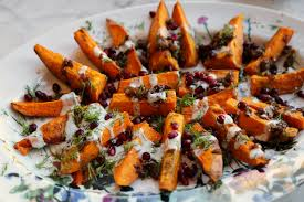 padma lakshmi s roasted sweet potatoes recipe popsugar food