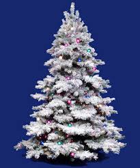 vickerman flocked alaskan multi pre lit christmas tree mini