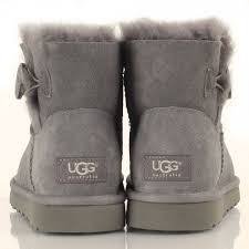 s ugg mini boots ugg grey mini bailey button s boot
