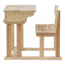 bureau d 馗olier ancien en bois 1 place pupitre d écolier pin massif brut mooviin