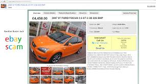 ebay scam ford focus st 3 electric orange yj07njw fraud