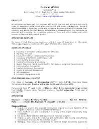 Diploma In Civil Engineering Resume Sample by Pankaj Resume Construction Project Manager