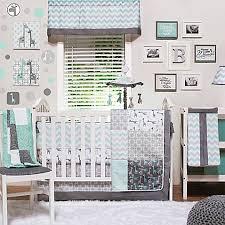 Aqua And Grey Crib Bedding The Peanut Shell Uptown Giraffe Crib Bedding Collection Buybuy Baby