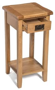 light wood end tables monchique oak 1 drawer side telephone console table with shelf in