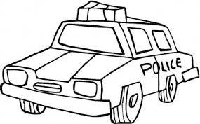 dessin voiture de police a imprimer gratuit