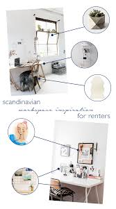 workspace inspiration scandinavian workspace inspiration for renters idle hands awake