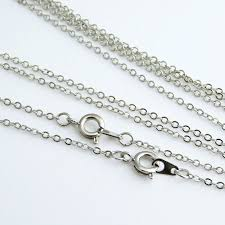 fine chain necklace images Silver tone brass fine cable chain necklace jewellery chain ireland jpg