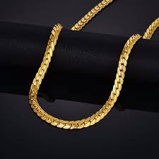 gold chain necklace men images Brand punk gold snake chain necklace jewelry wholesale gold chain jpg