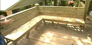 Wooden Banquette Seating How To Add Built In Seating To A Deck Today U0027s Homeowner