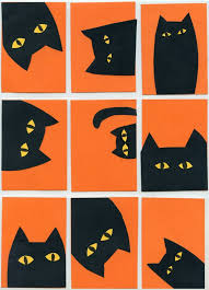 halloween idea for cat collage art projects for kids