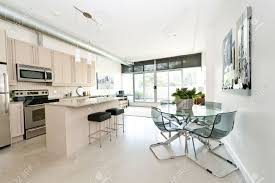 Living Room Kitchen Images Kitchen Dining And Living Room Of Apartment Artwork From