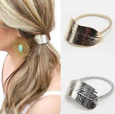 hair cuff 2pcs women leaf hair band rope metal hair cuff headband elastic