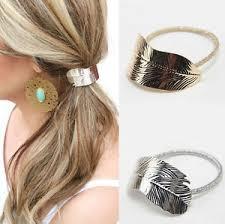 hair cuff 2pcs women leaf hair band rope metal hair cuff headband elastic