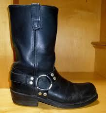 mens leather motorcycle boots double h hh black leather motorcycle biker harness boots style