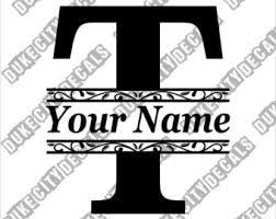 monogram letter t letter t monogram etsy
