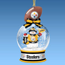 pittsburgh steelers snow globe ornaments steelers for my