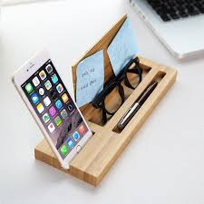 desk phone stand organizer bamboo wood phone stand desk organizer design packaging