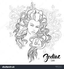 zodiac color zodiac leo coloring page shutterstock 325965020
