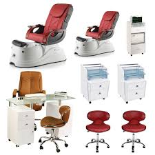 luxury nail salon furniture package red 2 pacific ax