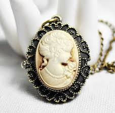 cameo antique necklace images 4003 12pcs lot victorian style antique bronze cameo pocket watch jpg