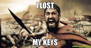 Lost Keys Meme - i lost my keys make a meme