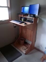 Country Style Computer Desks - standing computer desk corner big advantages form standing