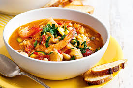 Italian Soup by Italian Seafood Soup With Garlic Croutons