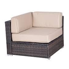 rattan lounge sofa outsunny modern 9 outdoor patio rattan wicker sofa sectional