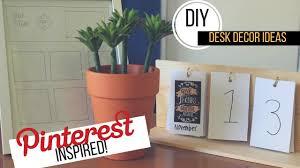 Desk Decor Ideas by 3 Diy Desk Decor Ideas Pinterest Inspired Youtube