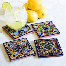 modern home interior design talavera tile coasters moroccan