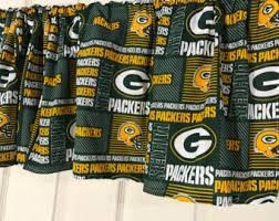 Nfl Curtains Packers Etsy