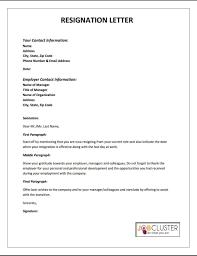 Email Manager Title Writing A Resignation Letter