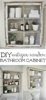 Vintage Bathroom Storage Cabinets Diy Antique Window Cabinet See How To Make This Easy