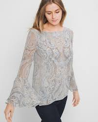 paisley blouse paisley bell sleeve blouse whbm