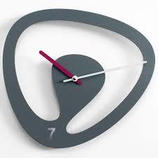Seven Wall Clock Modern Designer Grey Timepiece - Modern designer wall clocks