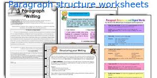 english teaching worksheets paragraph structure