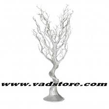 manzanita tree 30 artificial silver glitter manzanita tree wedding table