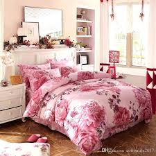 rose duvet cover uk cotton bedding sets active flower pink rose