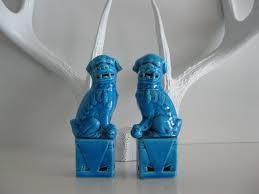 blue foo dogs tiny blue fu dogs fu dog