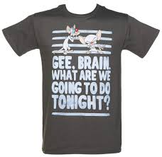 pinky and the brain men u0027s pinky and the brain take over the world t shirt